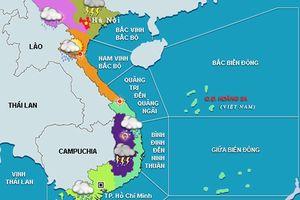 Áp thấp nhiệt đới giật cấp 9 hướng vào bờ, khu vực phía Nam mưa lớn
