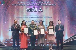 VOV đoạt 4 giải Báo chí toàn quốc 'Vì sự nghiệp giáo dục Việt Nam'