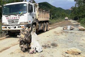 Người dân lại chặn xe chở đất đá thi công dự án Vsip Nghệ An