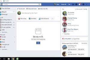 News Feed trên Facebook 'tê liệt', nhiều người không thể truy cập
