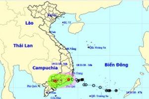 Áp thấp nhiệt đới gây gió giật mạnh ở vùng biển Ninh Thuận - Bình Thuận
