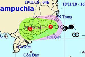 Áp thấp nhiệt đới 'quét' qua TP HCM đêm nay