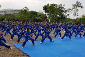 Xác lập kỷ lục 'Màn đồng diễn võ thuật lớn nhất Việt Nam' với 7.000 môn sinh tham gia