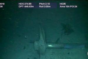 Hình ảnh đầu tiên của xác tàu ngầm Argentina sau 1 năm dưới đáy biển
