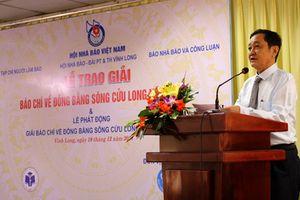 Gần 350 tác phẩm tham gia giải báo chí viết về 'Đồng bằng sông Cửu Long' năm 2018