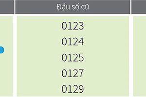 Đầu số 0123, 0124, 0125, 0127, 0129 của VinaPhone đổi thành gì?