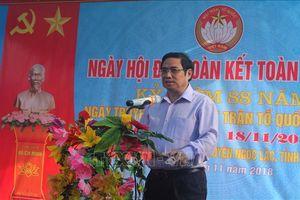 Đồng chí Phạm Minh Chính dự Ngày hội Đại đoàn kết toàn dân tộc tại Thanh Hóa