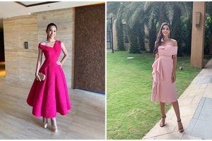 Trần Tiểu Vy là những 'bộ cánh' màu hồng ấn tượng tại Miss World 2018