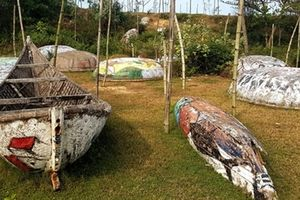 Con đường bích họa bằng thuyền thúng kỷ lục Việt Nam bị tháo dỡ vì xuống cấp nghiêm trọng