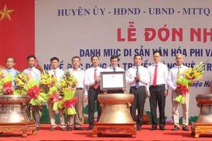 Thanh Hóa: Đón nhận danh hiệu Di sản văn hóa phi vật thể quốc gia Nghề đúc đồng cổ truyền làng Chè