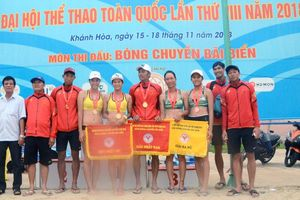 Chủ nhà Khánh Hòa giành trọn 2 HCV bóng chuyền bãi biển