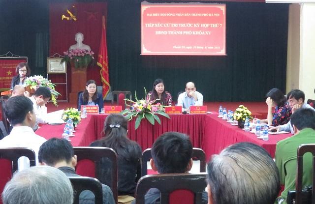 Cử tri huyện Thanh Trì quan tâm đến lĩnh vực môi trường