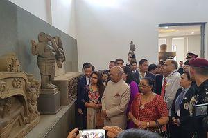 Tổng thống Ấn Độ thăm Bảo tàng điêu khắc Chăm