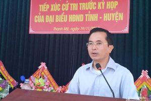 Phó Chủ tịch UBND tỉnh Lê Ngọc Hoa tiếp xúc cử tri tại Thanh Chương