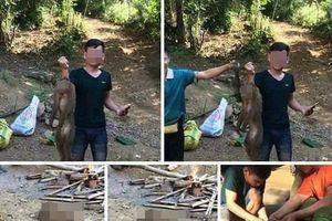 Khoe 'chiến tích' giết khỉ trên Facebook, thanh niên bị công an mời làm việc