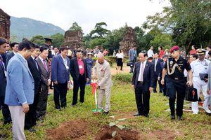 Tổng thống Ấn Độ trồng cây bồ đề tại khu đền tháp Mỹ Sơn