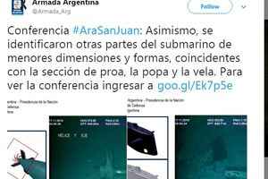 Tin mới nhất về tàu ngầm San Juan vừa được tìm thấy