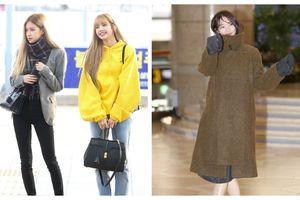 Cùng 'đổ bộ' sân bay, BlackPink thần thái đối lập nhau, bạn gái Kim Woo Bin vẫn nổi bật dù kín bưng