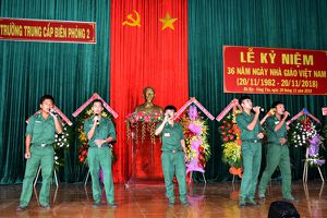 Trường Trung cấp Biên phòng 2: Tổ chức kỷ niệm Ngày Nhà giáo Việt Nam