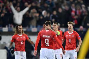 Thụy Sỹ ngược dòng cướp ngôi Bỉ tại Nations League