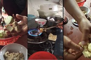 Xôn xao clip đậu phụ bóp không vỡ, đốt cháy khét ở Nghệ An