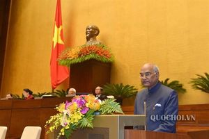 Tổng thống Ấn Độ phát biểu tại Quốc hội Việt Nam