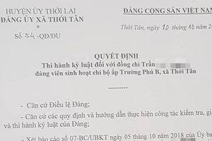 Tố cáo chủ tịch xã, Chủ tịch Hội Cựu chiến binh bị kỷ luật