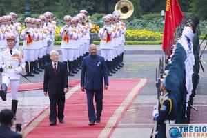 Lễ đón Tổng thống Ấn Độ tại Phủ Chủ tịch