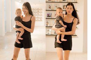 Nguyễn Hợp 'Next Top Model' bế con đi catwalk