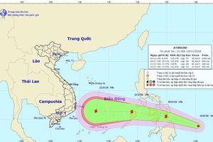 Xuất hiện áp thấp nhiệt đới có khả năng mạnh lên thành bão ở Biển Đông