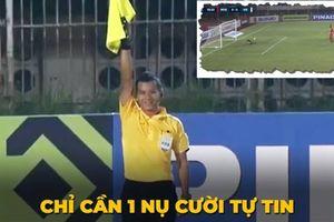 Trọng tài biên cười tươi khi cướp bàn thắng hợp lệ của Văn Toàn vào lưới Myanmar