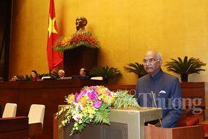 Tổng thống Ấn Độ phát biểu trước Quốc hội Việt Nam