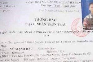 Thanh Hóa: Đang thụ án chung thân vẫn trốn trại tẩu thoát