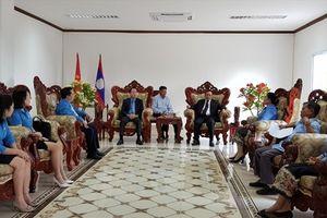 Công đoàn Công thương Việt Nam làm việc với Trung ương Liên hiệp Công đoàn Lào