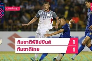 HLV Eriksson cao tay, Philippines cầm hòa Thái Lan 1-1