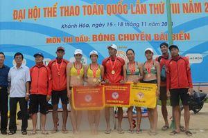 Khánh Hòa giành trọn 2 Huy chương Vàng ở môn Bóng chuyền bãi biển