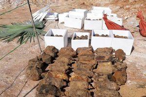 Phát hiện 750 quả đạn, mìn tại vườn nhà dân