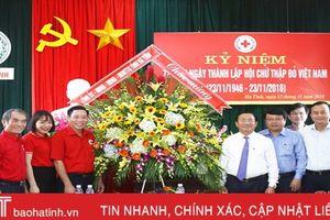 Lãnh đạo tỉnh chúc mừng Hội Chữ thập đỏ Hà Tĩnh nhân ngày thành lập