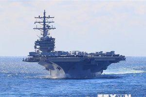 Nhóm tác chiến tàu sân bay và tàu chiến Mỹ đến thăm Hong Kong