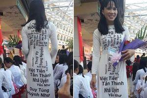 Chiếc áo dài đặc biệt in tên 40 học sinh của cô giáo Cần Thơ