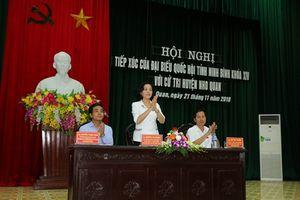 Đoàn ĐBQH tỉnh tiếp xúc cử tri huyện Yên Khánh, Nho Quan