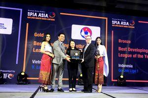 V.League 1 đoạt giải Vàng cho hạng mục Giải đấu Phát triển tốt nhất châu Á 2018
