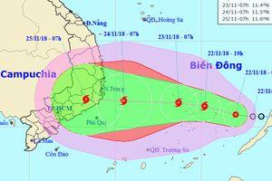 Áp thấp nhiệt đới sẽ mạnh thành bão, Nam Trung Bộ mưa lớn