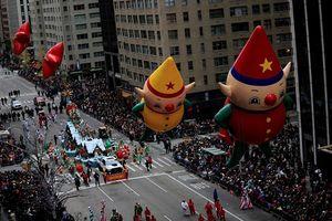 Rộn ràng cuộc diễu hành Lễ Tạ ơn Macy's ở nước Mỹ