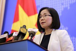 Việt Nam yêu cầu Trung Quốc chấm dứt ngay việc xây dựng phi pháp ở đá Bông Bay, Hoàng Sa