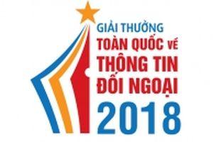Giải thưởng toàn quốc về thông tin đối ngoại năm 2018