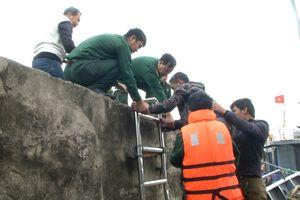 BĐBP Thanh Hóa cứu nạn thành công 5 thuyền viên gặp nạn trên biển