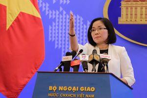 Việt Nam lên tiếng về việc Trung Quốc và Philippines hợp tác dầu khí trên Biển Đông