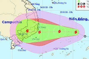 Áp thấp đã mạnh thành bão số 9, liên tục tăng cấp