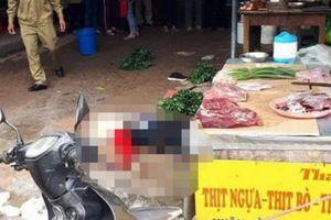 Nghi phạm cầm súng bắn người phụ nữ 26 tuổi bán đậu giữa chợ ở Hải Dương đã tử vong